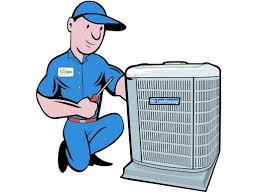 aircon servicing repair man carrying out service