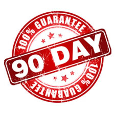 90 days workmanship warranty