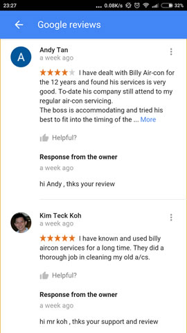 Google Review Andy