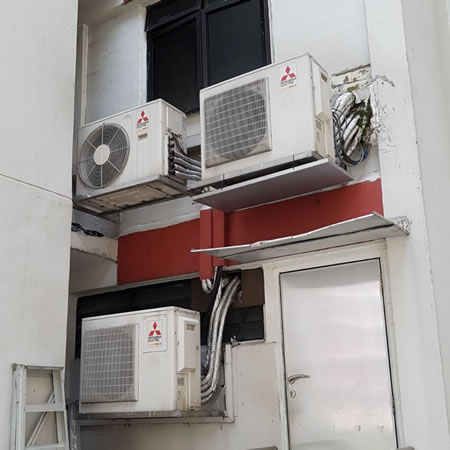 mitsubishi outdoor unit